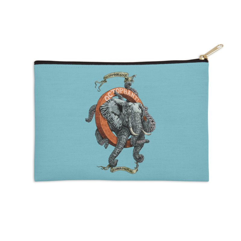 The Improbable Octophant Accessories Zip Pouch by Octophant's Artist Shop
