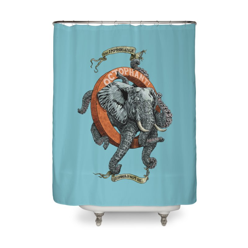The Improbable Octophant Home Shower Curtain by Octophant's Artist Shop