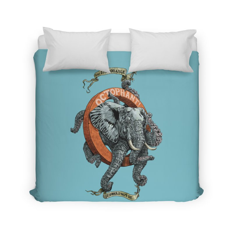 The Improbable Octophant Home Duvet by Octophant's Artist Shop