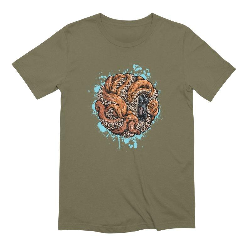Orange Ball of Love Men's Extra Soft T-Shirt by Octophant's Artist Shop