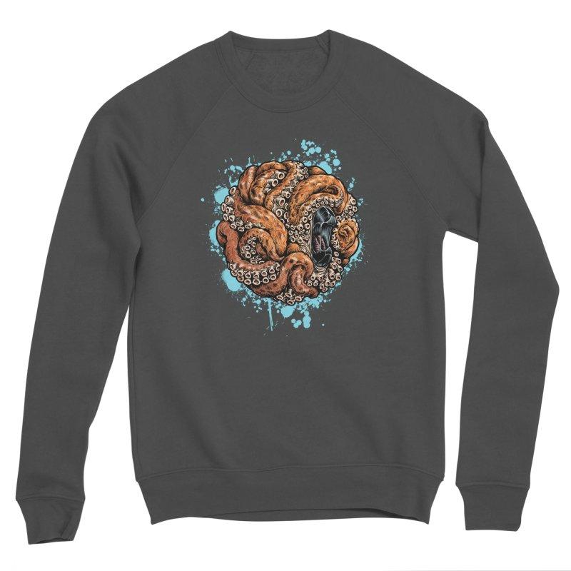 Orange Ball of Love Men's Sponge Fleece Sweatshirt by Octophant's Artist Shop
