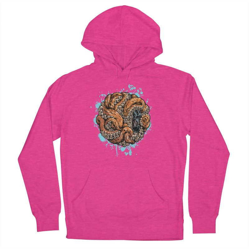 Orange Ball of Love Women's French Terry Pullover Hoody by Octophant's Artist Shop