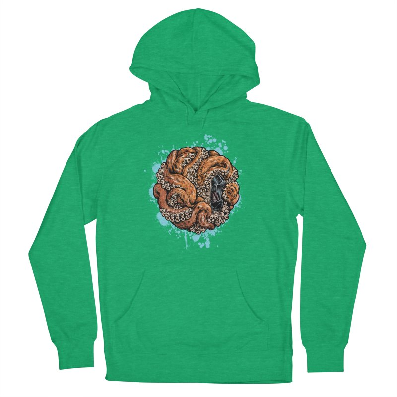 Orange Ball of Love Men's French Terry Pullover Hoody by Octophant's Artist Shop