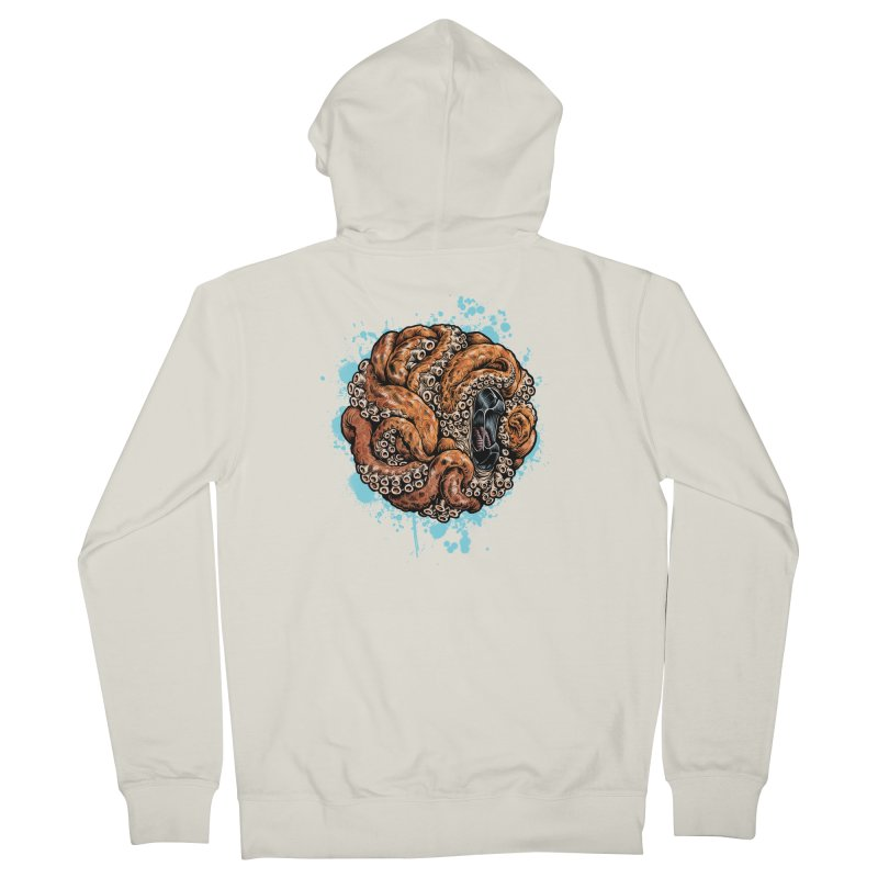 Orange Ball of Love Women's French Terry Zip-Up Hoody by Octophant's Artist Shop