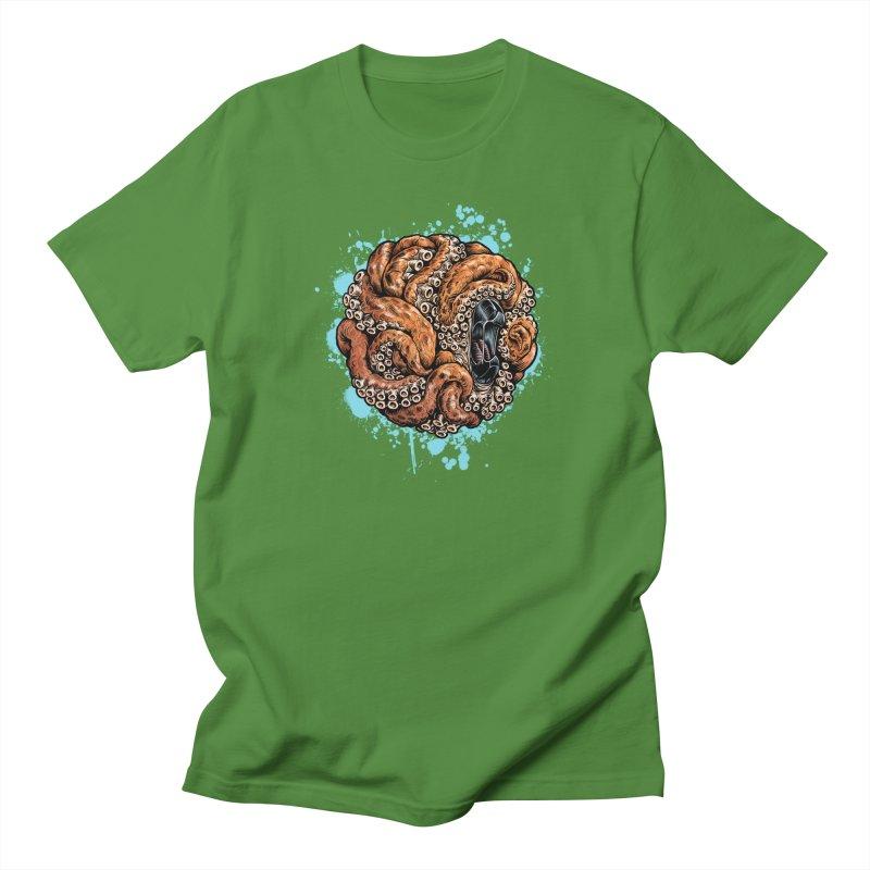 Orange Ball of Love Men's Regular T-Shirt by Octophant's Artist Shop