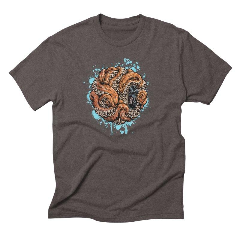 Orange Ball of Love Men's Triblend T-Shirt by Octophant's Artist Shop