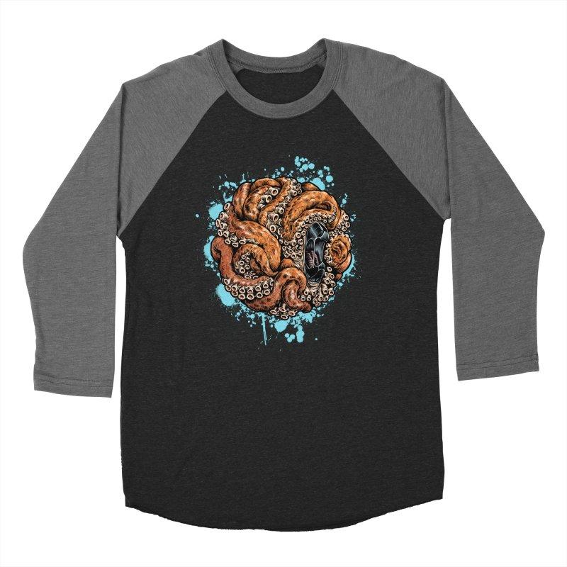 Orange Ball of Love Men's Baseball Triblend Longsleeve T-Shirt by Octophant's Artist Shop