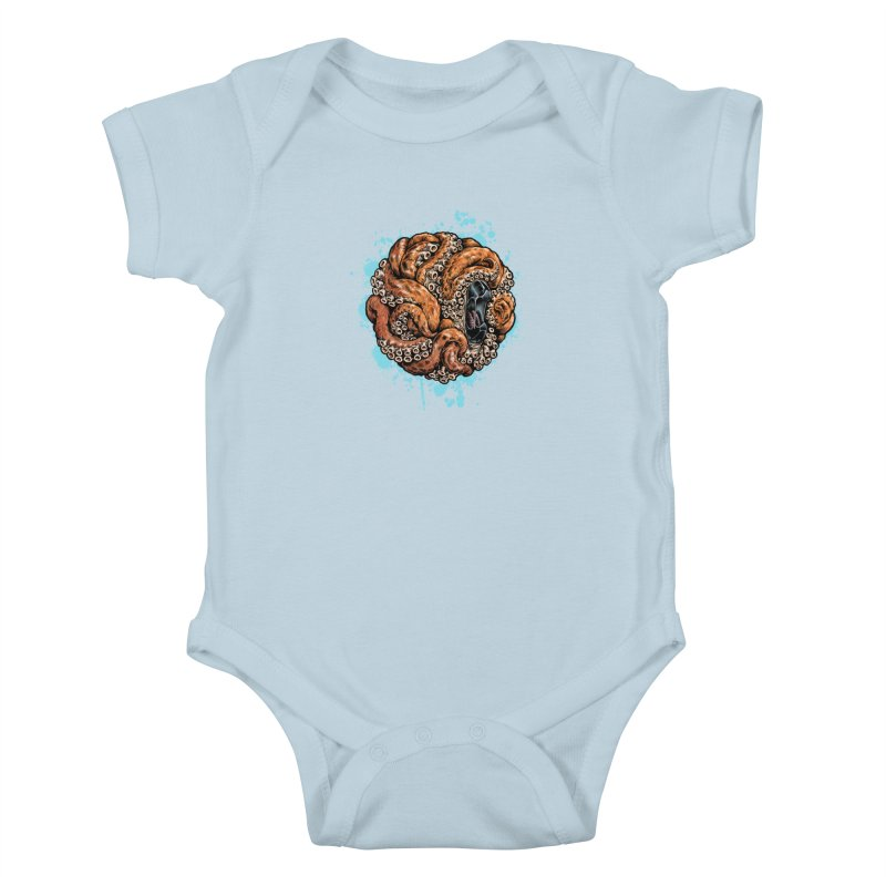 Orange Ball of Love Kids Baby Bodysuit by Octophant's Artist Shop