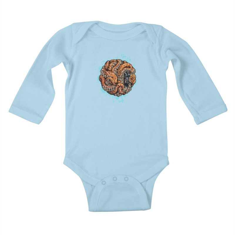 Orange Ball of Love Kids Baby Longsleeve Bodysuit by Octophant's Artist Shop