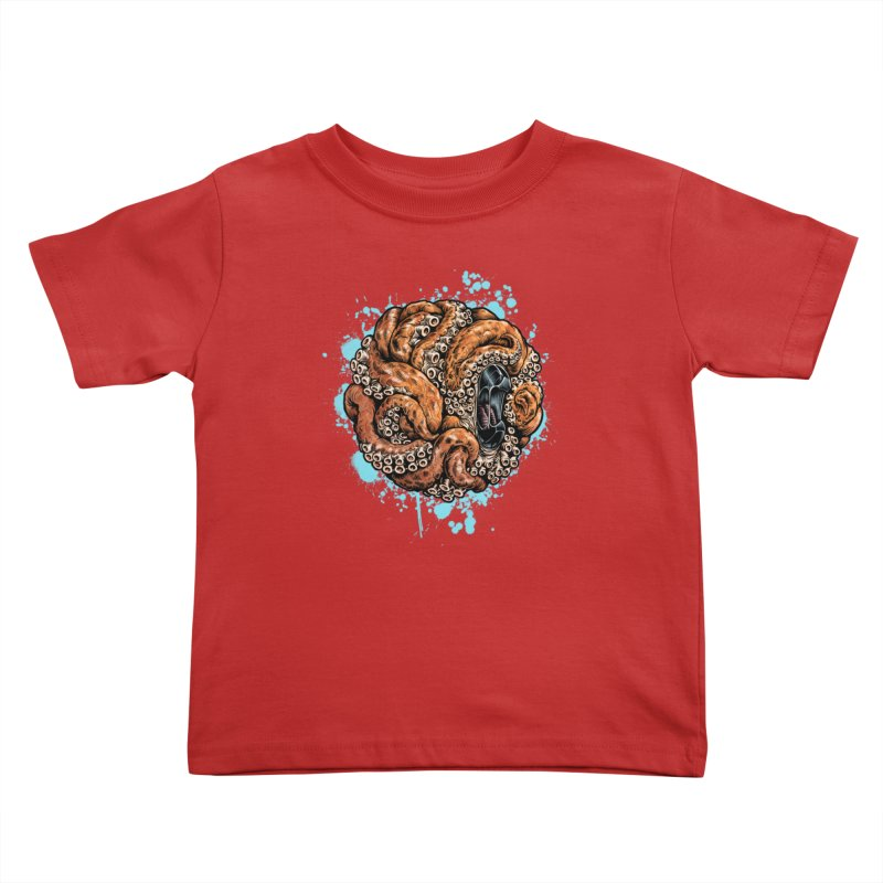 Orange Ball of Love Kids Toddler T-Shirt by Octophant's Artist Shop