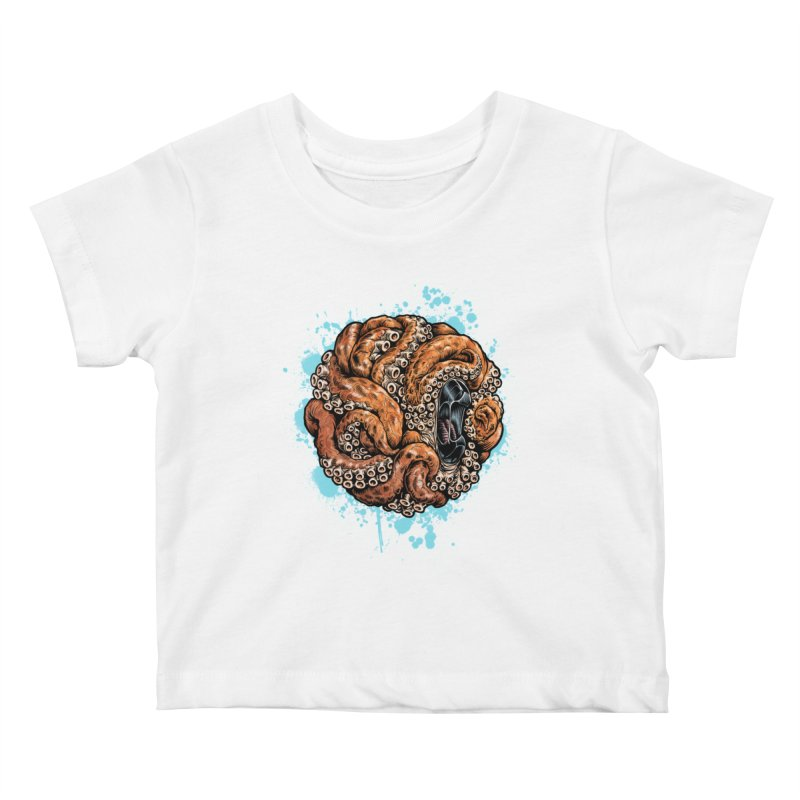 Orange Ball of Love Kids Baby T-Shirt by Octophant's Artist Shop