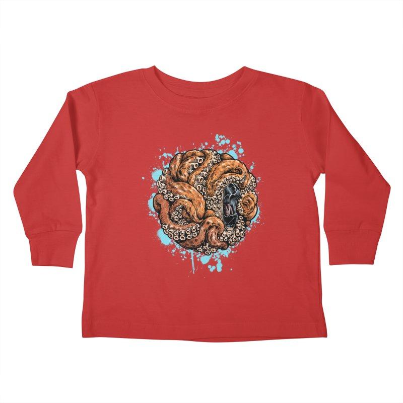 Orange Ball of Love Kids Toddler Longsleeve T-Shirt by Octophant's Artist Shop