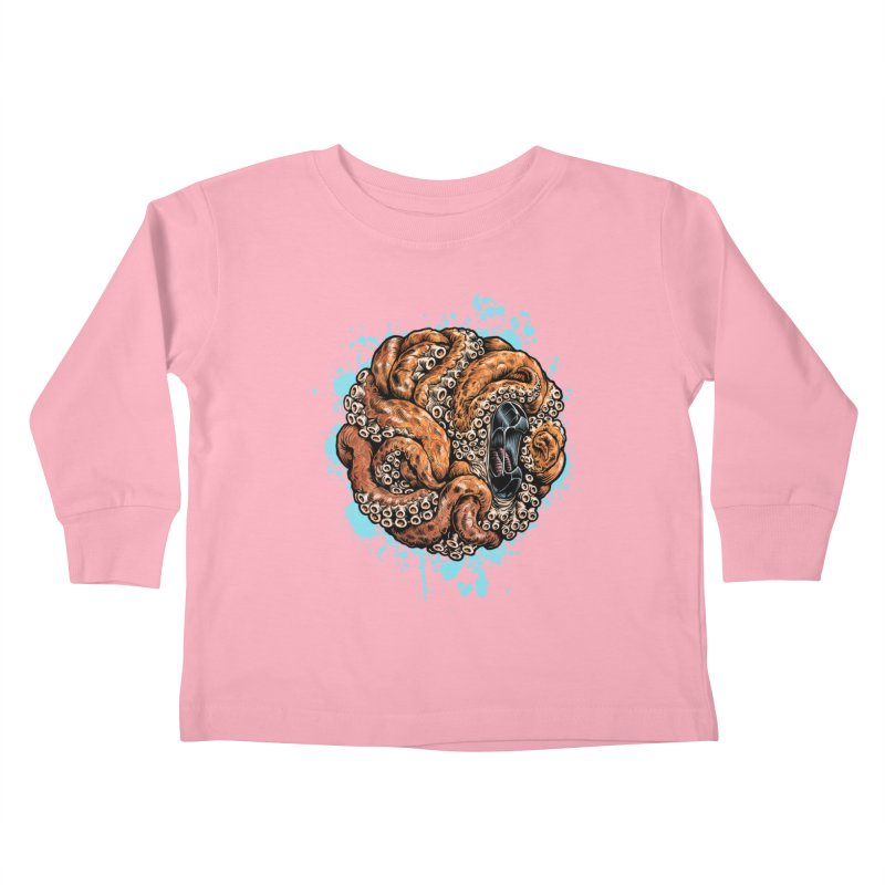 Orange Ball of Love Kids Toddler Longsleeve T-Shirt by Octophant's Artist Shop