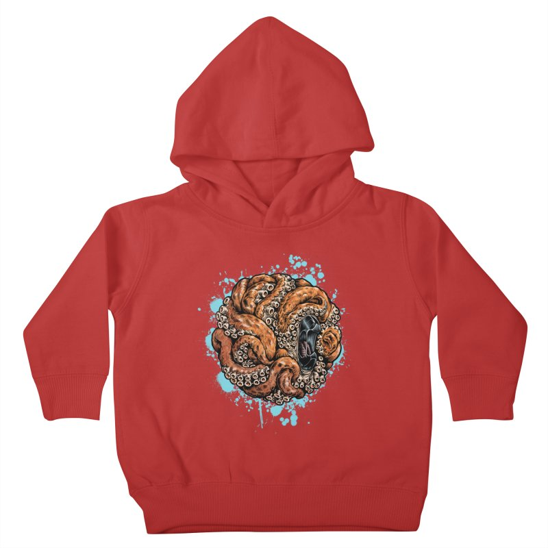 Orange Ball of Love Kids Toddler Pullover Hoody by Octophant's Artist Shop