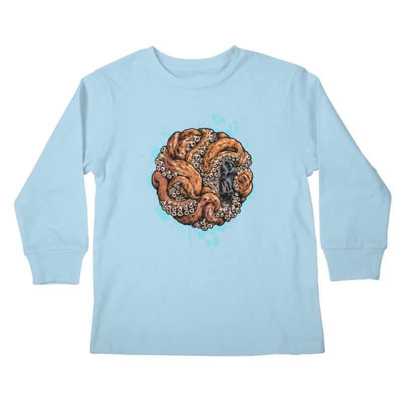 Orange Ball of Love Kids Longsleeve T-Shirt by Octophant's Artist Shop