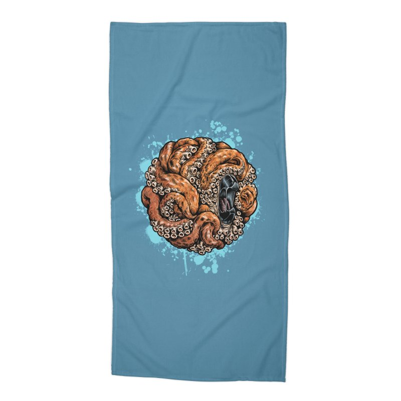 Orange Ball of Love Accessories Beach Towel by Octophant's Artist Shop