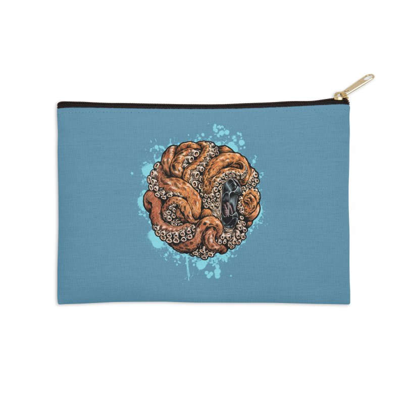 Orange Ball of Love Accessories Zip Pouch by Octophant's Artist Shop