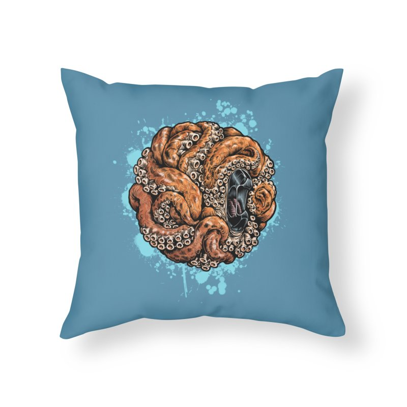 Orange Ball of Love Home Throw Pillow by Octophant's Artist Shop