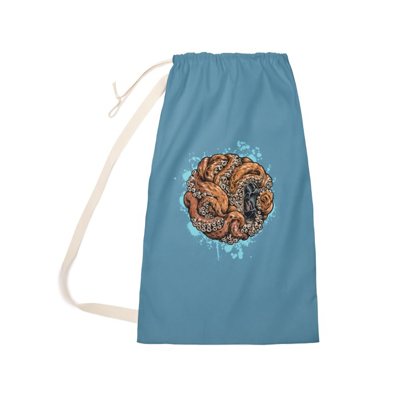 Orange Ball of Love Accessories Laundry Bag Bag by Octophant's Artist Shop