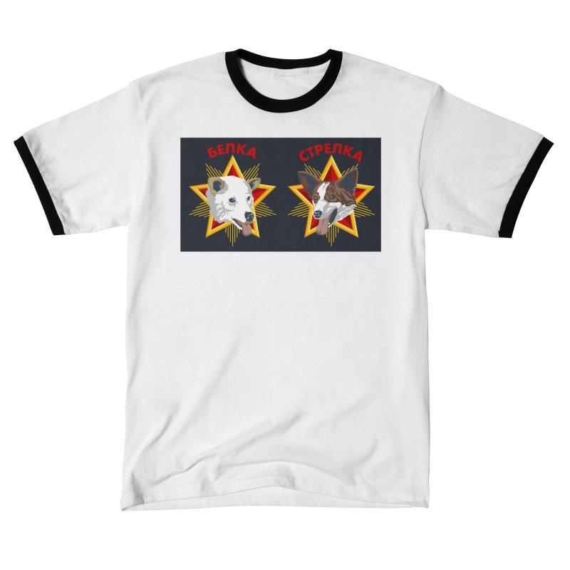 Belka & Strelka Shoes Men's T-Shirt by Octophant's Artist Shop