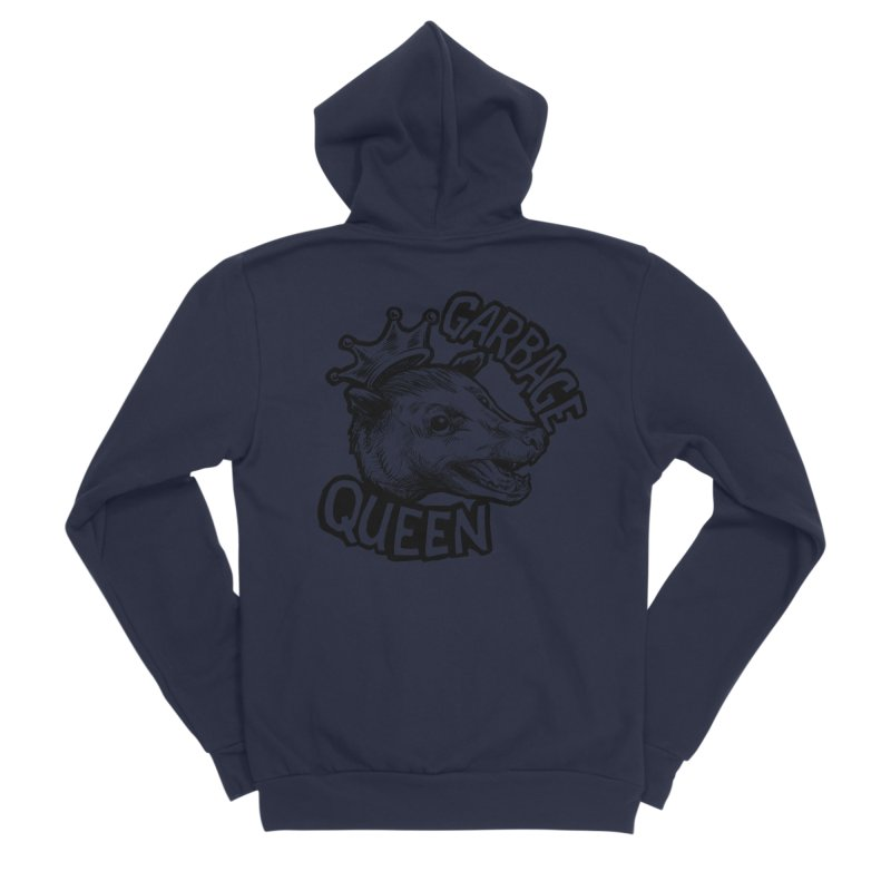 Garbage Queen (Black) Men's Sponge Fleece Zip-Up Hoody by Octophant's Artist Shop