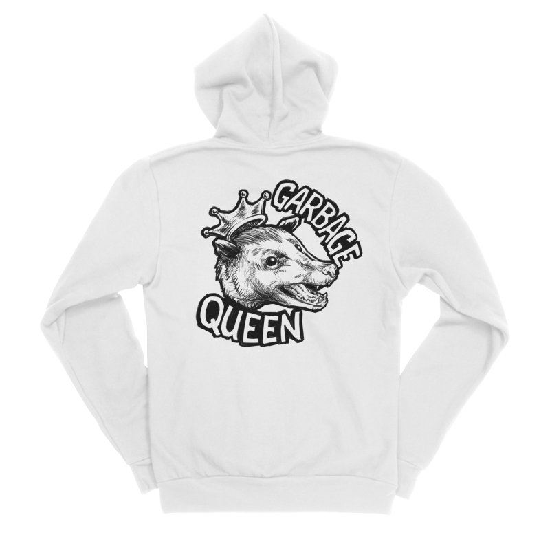 Garbage Queen (Black) Women's Sponge Fleece Zip-Up Hoody by Octophant's Artist Shop