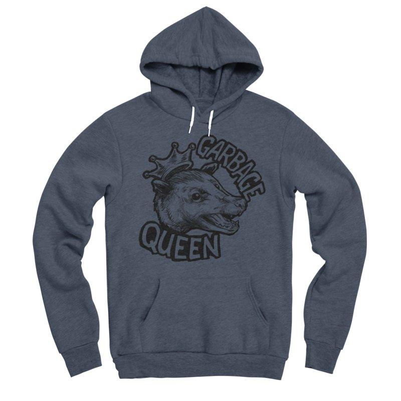 Garbage Queen (Black) Men's Sponge Fleece Pullover Hoody by Octophant's Artist Shop