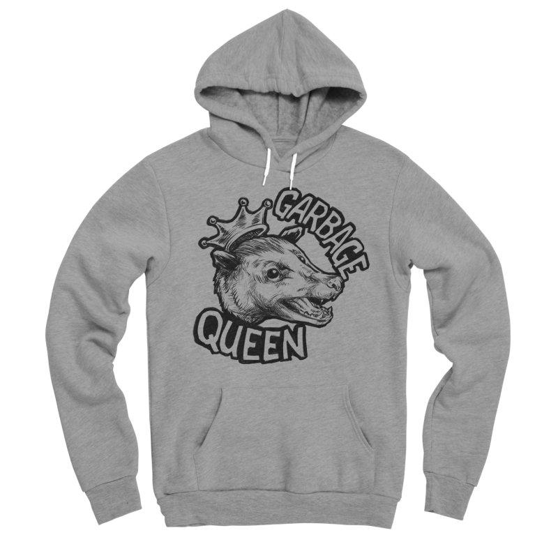 Garbage Queen (Black) Women's Sponge Fleece Pullover Hoody by Octophant's Artist Shop