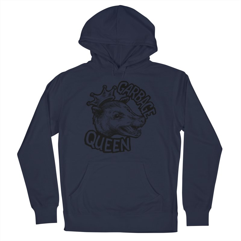 Garbage Queen (Black) Men's French Terry Pullover Hoody by Octophant's Artist Shop