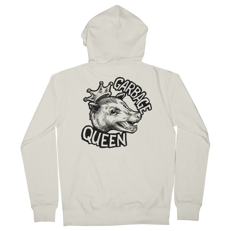 Garbage Queen (Black) Women's French Terry Zip-Up Hoody by Octophant's Artist Shop
