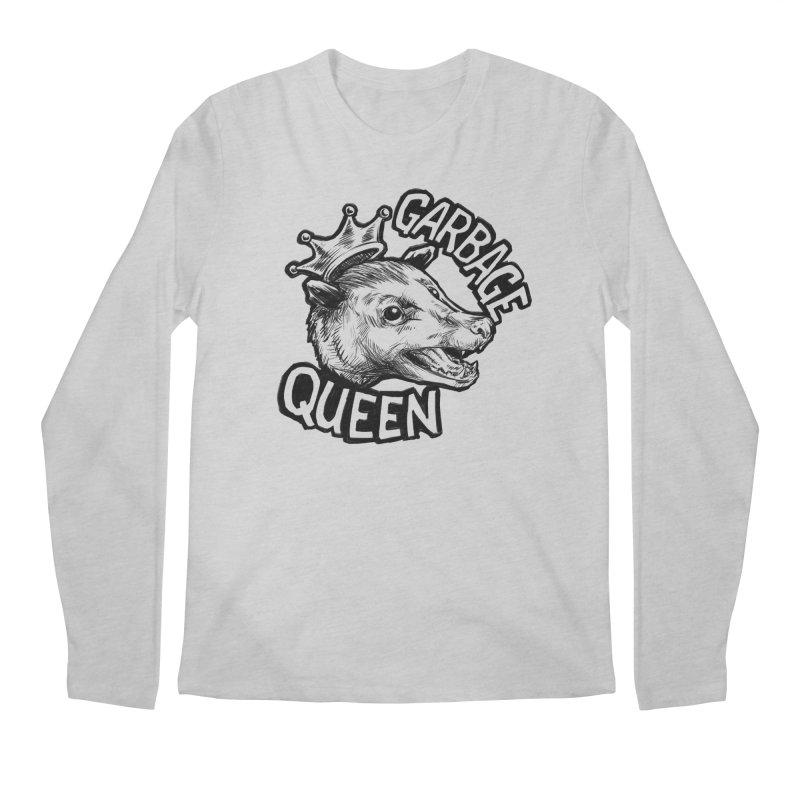 Garbage Queen (Black) Men's Regular Longsleeve T-Shirt by Octophant's Artist Shop