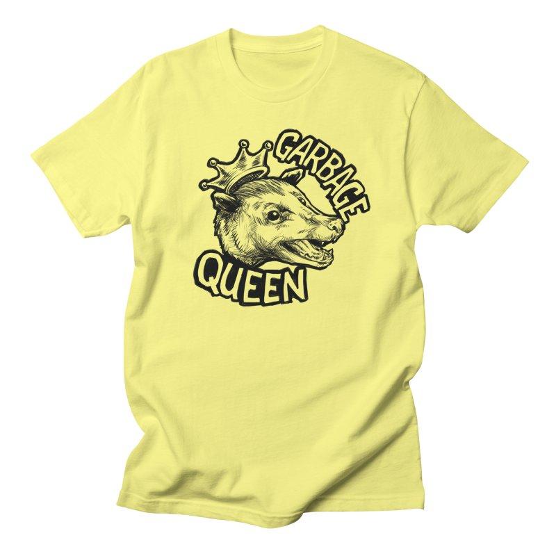 Garbage Queen (Black) Women's Regular Unisex T-Shirt by Octophant's Artist Shop