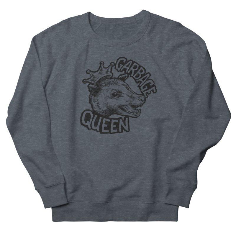 Garbage Queen (Black) Men's French Terry Sweatshirt by Octophant's Artist Shop