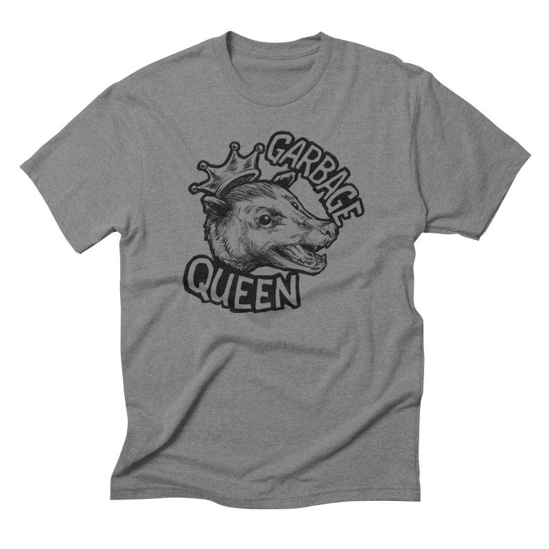 Garbage Queen (Black) Men's Triblend T-Shirt by Octophant's Artist Shop