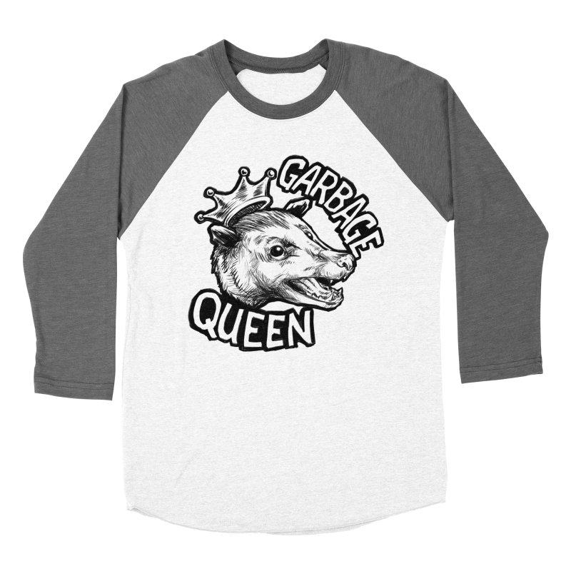 Garbage Queen (Black) Women's Baseball Triblend Longsleeve T-Shirt by Octophant's Artist Shop