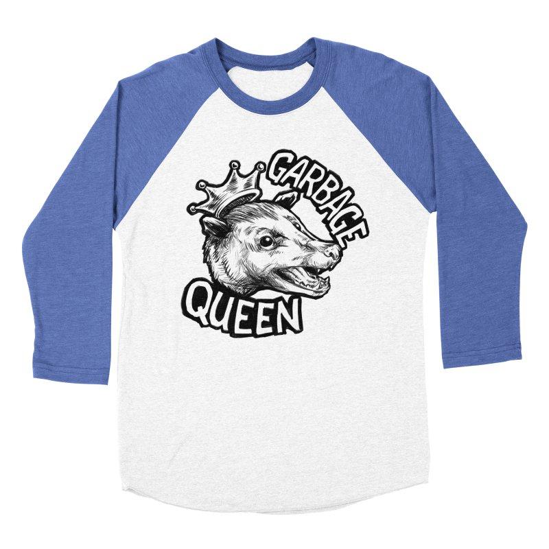 Garbage Queen (Black) Men's Baseball Triblend Longsleeve T-Shirt by Octophant's Artist Shop