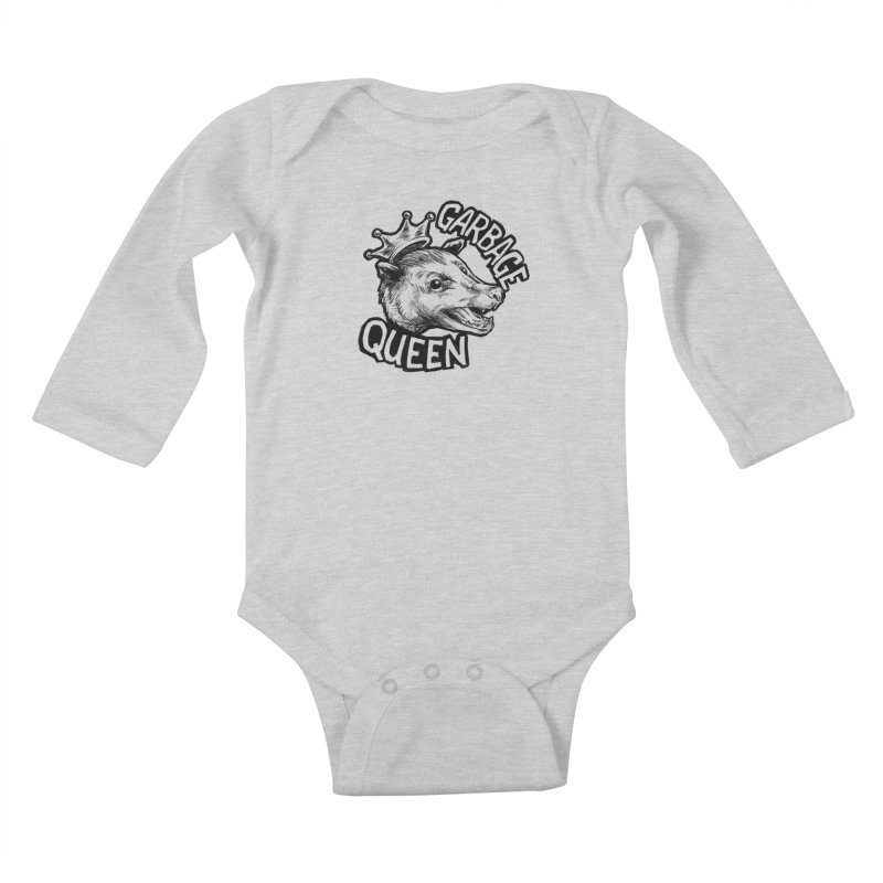 Garbage Queen (Black) Kids Baby Longsleeve Bodysuit by Octophant's Artist Shop