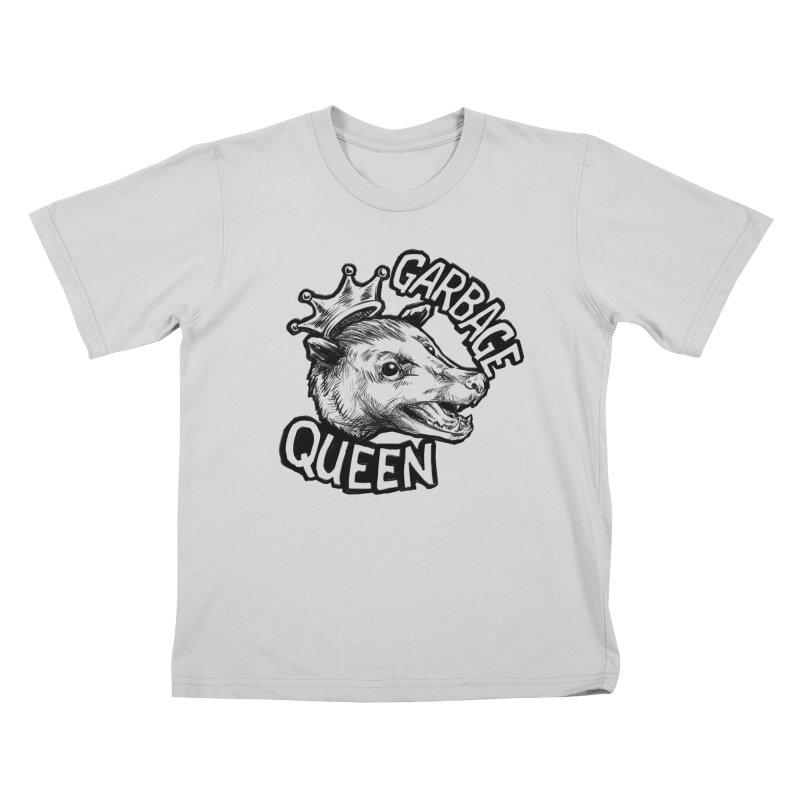 Garbage Queen (Black) Kids T-Shirt by Octophant's Artist Shop