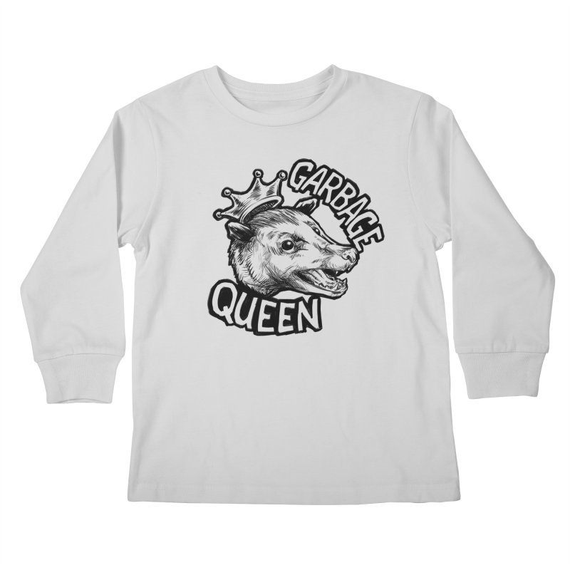 Garbage Queen (Black) Kids Longsleeve T-Shirt by Octophant's Artist Shop