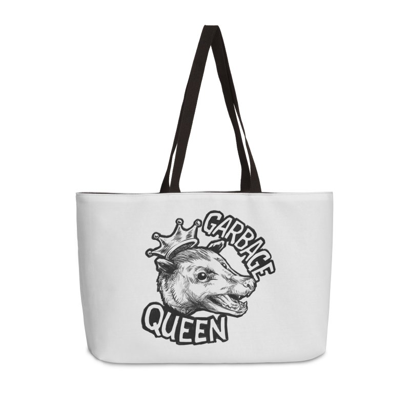 Garbage Queen (Black) Accessories Weekender Bag Bag by Octophant's Artist Shop