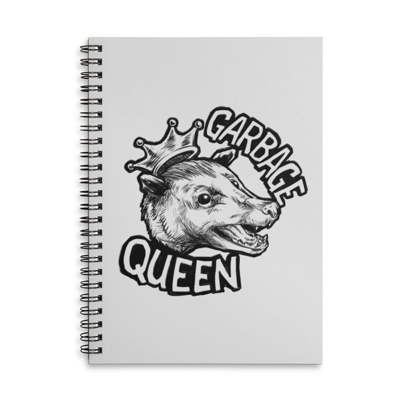 Garbage Queen (Black) Accessories Lined Spiral Notebook by Octophant's Artist Shop