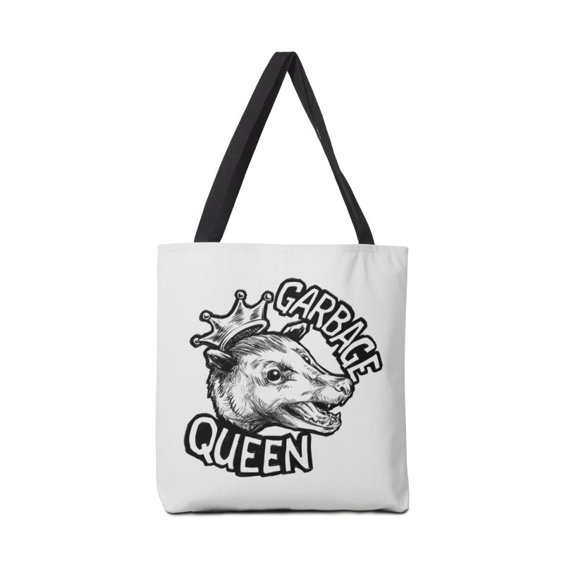 Garbage Queen (Black) Accessories Tote Bag Bag by Octophant's Artist Shop