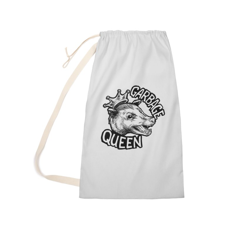 Garbage Queen (Black) Accessories Laundry Bag Bag by Octophant's Artist Shop