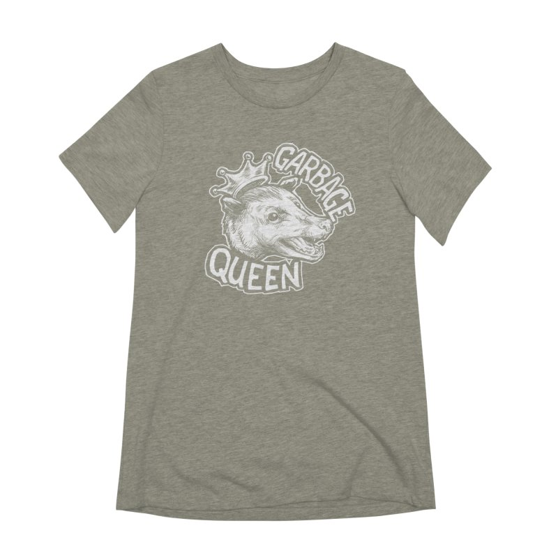 Garbage Queen (White) Women's Extra Soft T-Shirt by Octophant's Artist Shop
