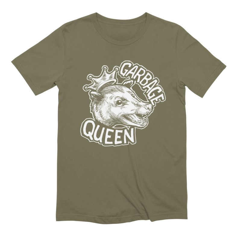 Garbage Queen (White) Men's Extra Soft T-Shirt by Octophant's Artist Shop