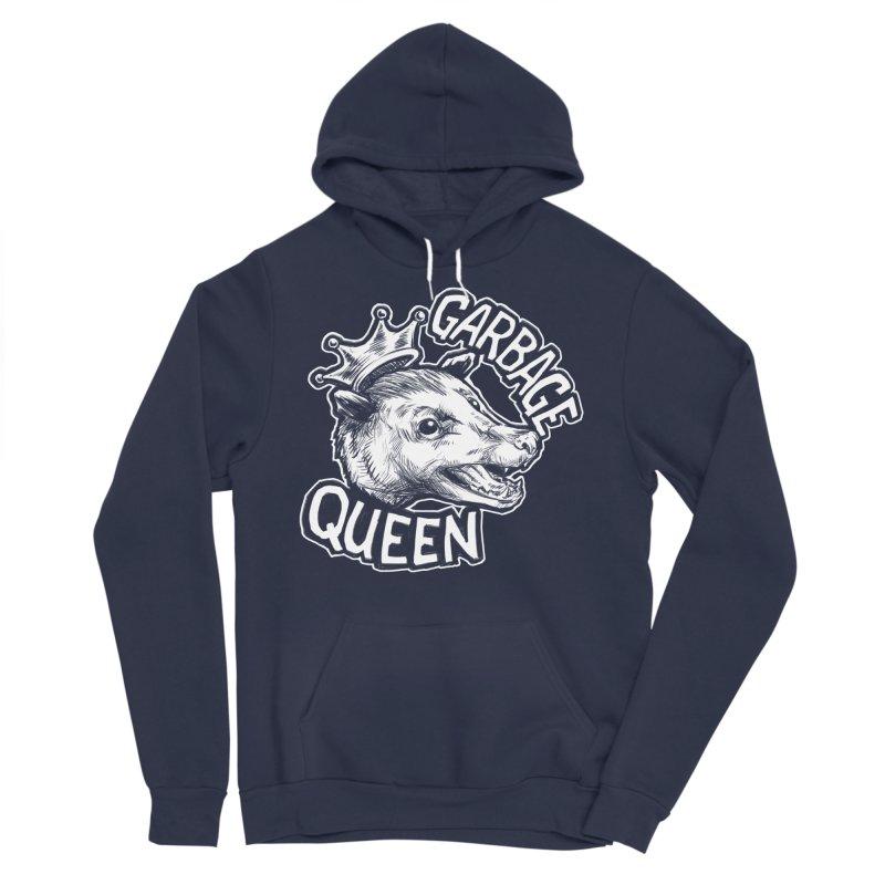 Garbage Queen (White) Women's Sponge Fleece Pullover Hoody by Octophant's Artist Shop