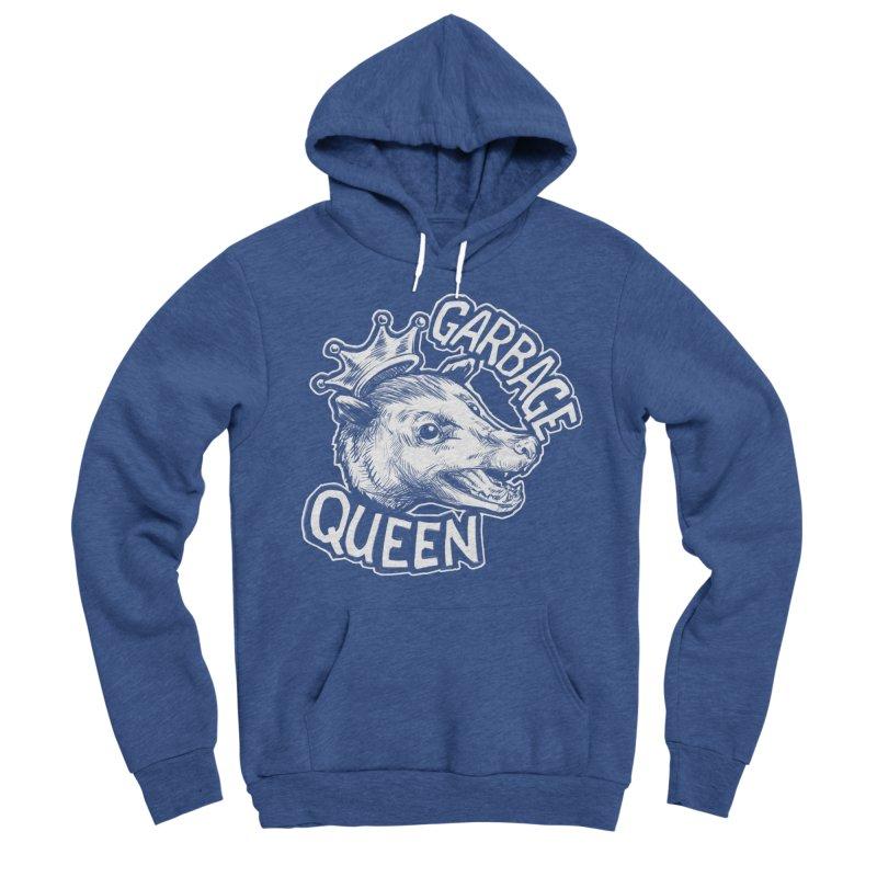 Garbage Queen (White) Men's Sponge Fleece Pullover Hoody by Octophant's Artist Shop