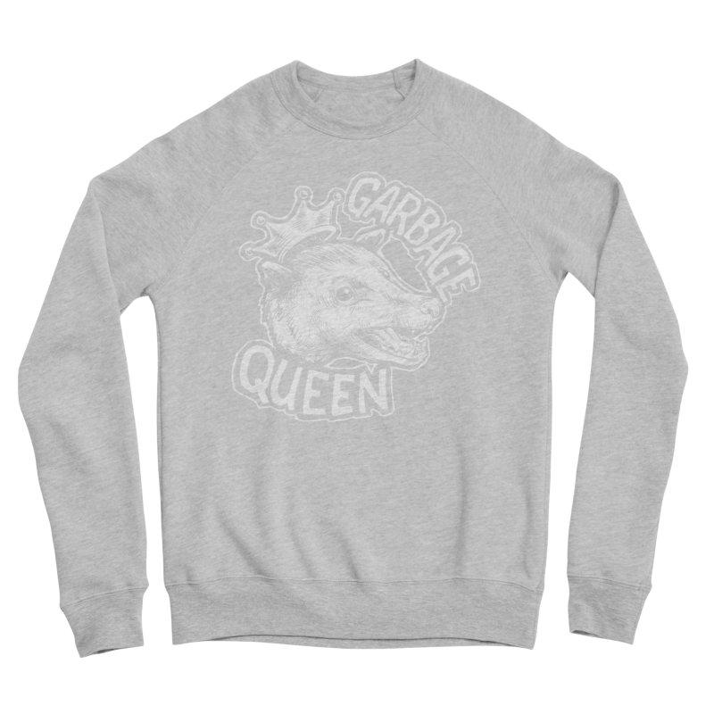 Garbage Queen (White) Women's Sponge Fleece Sweatshirt by Octophant's Artist Shop