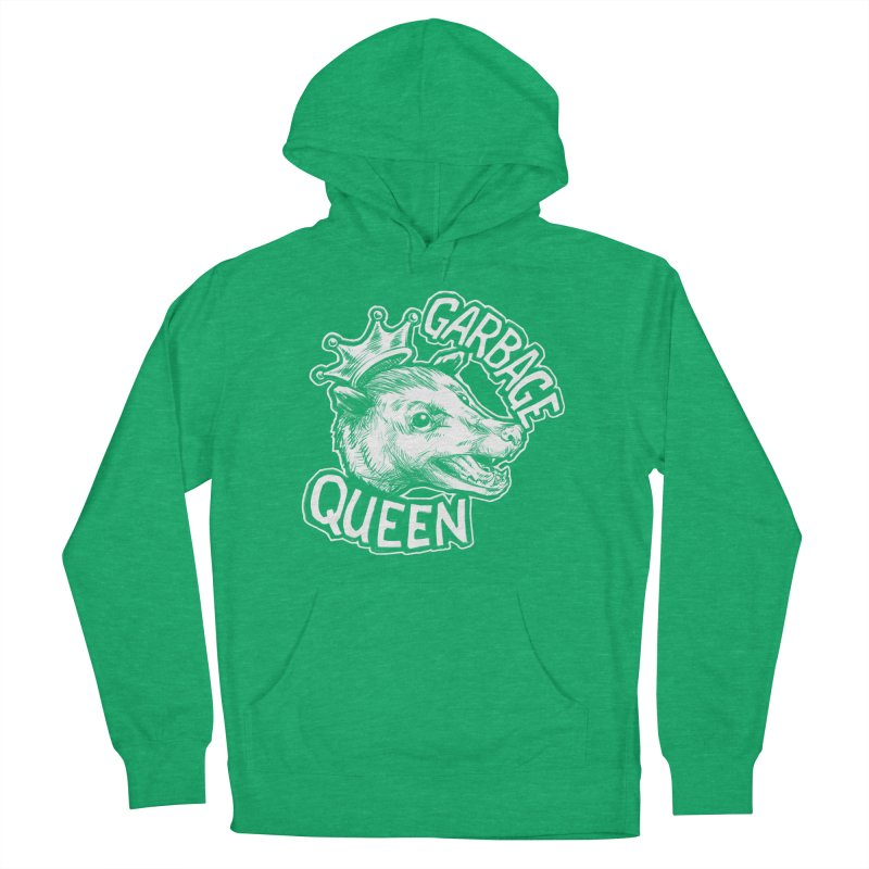 Garbage Queen (White) Men's French Terry Pullover Hoody by Octophant's Artist Shop