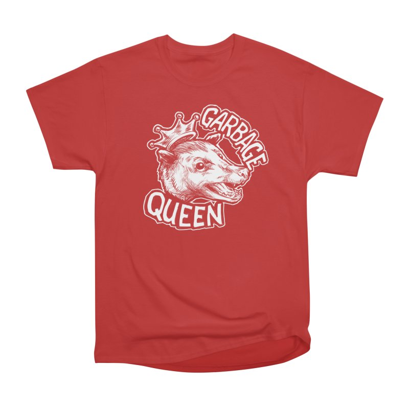 Garbage Queen (White) Women's Heavyweight Unisex T-Shirt by Octophant's Artist Shop